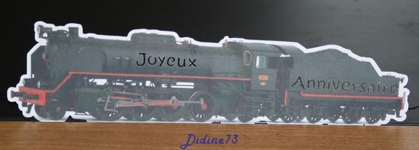 Banderole et carte d'anniversaire - train -2