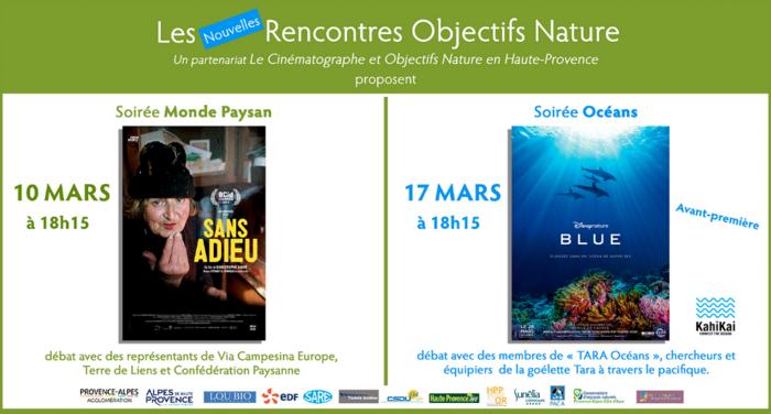 *2 soirées exceptionnelles Objectifs Nature au Cinématographe