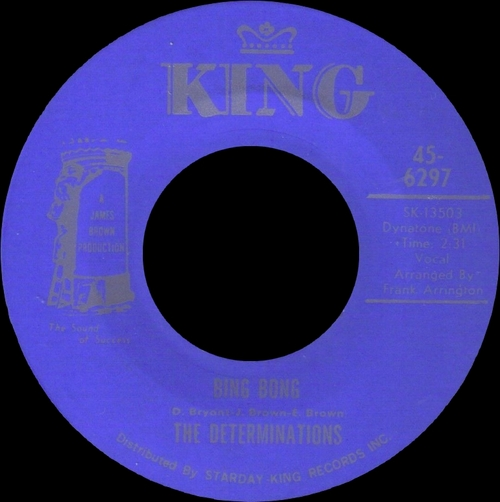 The Determinations : Single SP King Records 45-6297 [ US ]