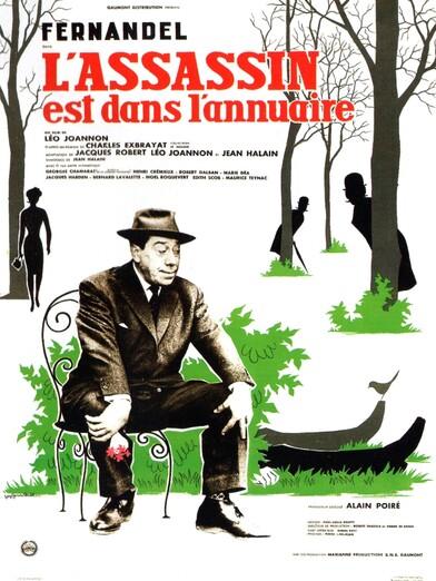 L'ASSASSIN EST DANS L'ANNUAIRE - BOX OFFICE FERNANDEL 1962