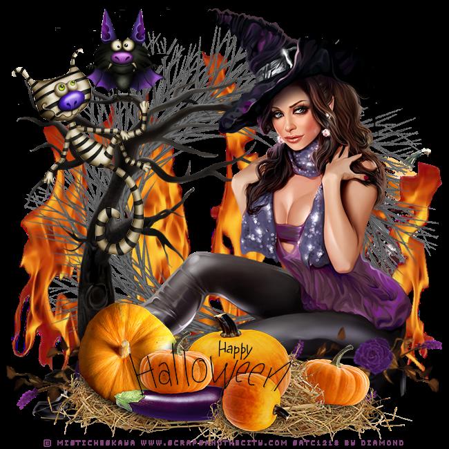 "Tutoriel ""Halloween 3"" de Liligraph chez Delire2scrap"