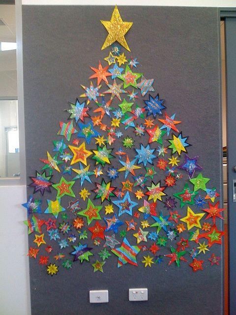 """Idée Pinterest : """"décorer sa porte de classe avec des étoiles"""""""