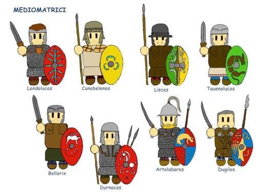 L'armée Mediomatrici en miniature