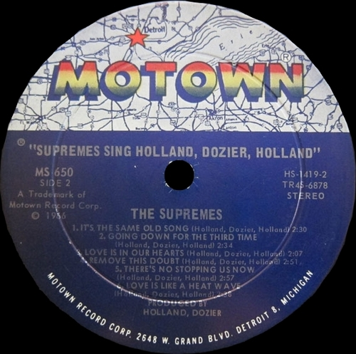 "The Supremes : Album "" Supremes Sing Holland▪Dozier▪Holland "" Motown Records MS 650 [ US ]"