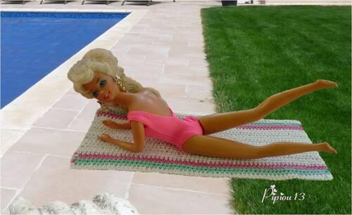 Sylvie a étalé son drap de plage