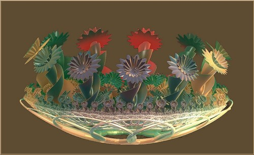 Création N 1812  Logiciel Incendia réalisation image fractale J Georges