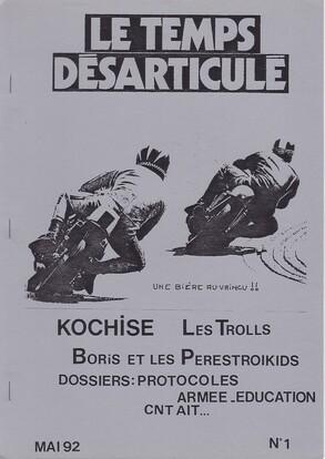 """Le Temps Désarticulé """"papier"""" n°1 - Encore quelques exemplaires disponibles !"""