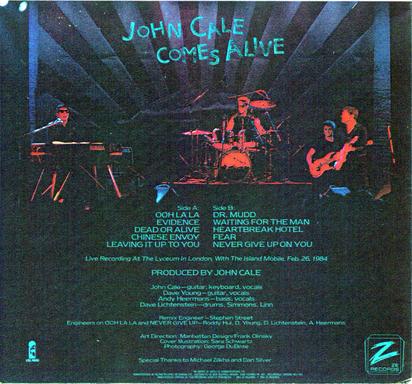 Mémoire de vinyl : John Cale Comes alive (1984)