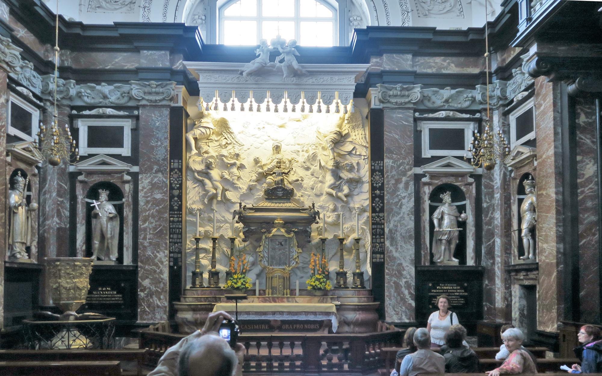 L'intérieur de la Cathédrale : la Chapelle St Casimir