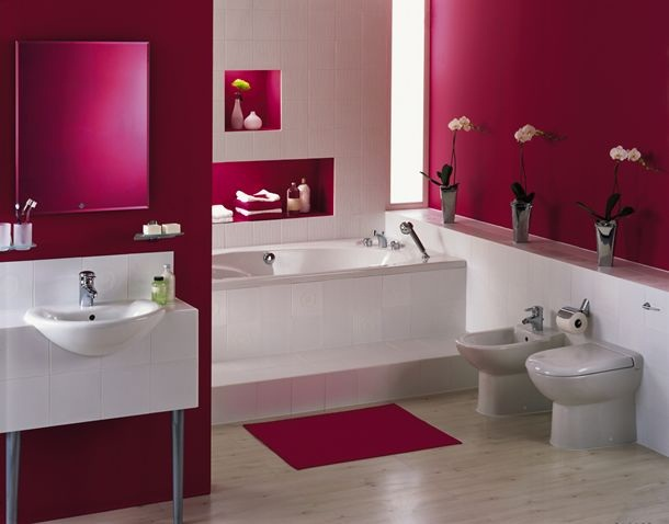 Awesome Salle De Bain Gris Et Rose Images - Awesome Interior Home ...