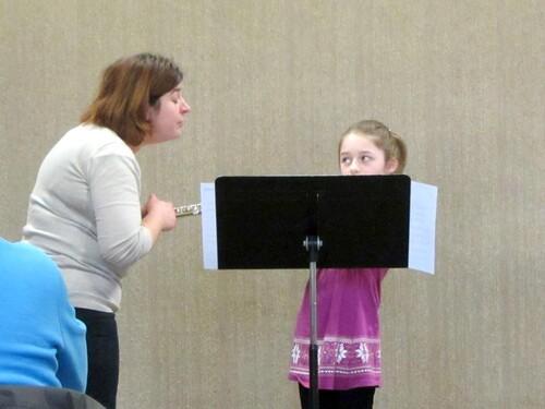 Les auditions des élèves flûtistes de l'Ecole de Musique de Châtillon sur Seine