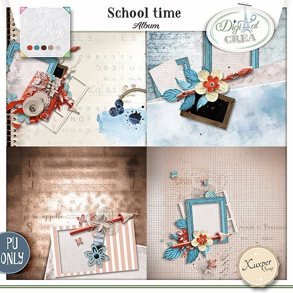 School Time by Xuxper Designs