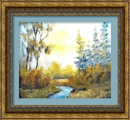 Dessin et peinture - vidéo 2286 : Comment peindre à l'huile pour débutants ? Réaliser un paysage.