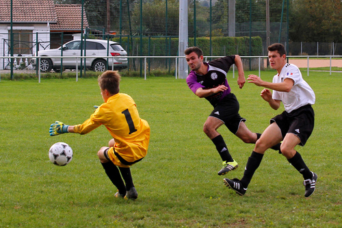 fotofoot, des, étangs, photo, de, foot, foot-ball, football, EFDE