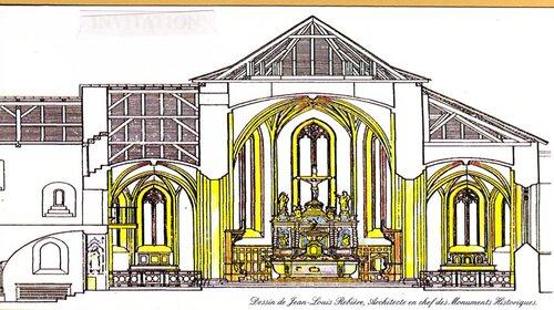 Dessein de M. J.L Rebière Architecte en chef des Monuments historiques