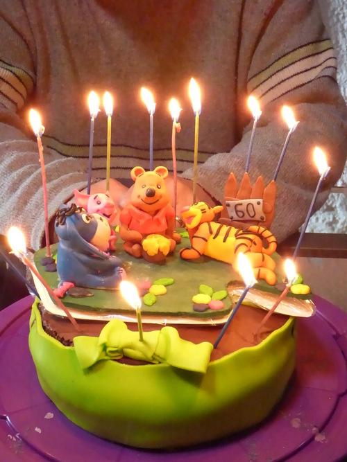 Un gâteau d'anniversaire...