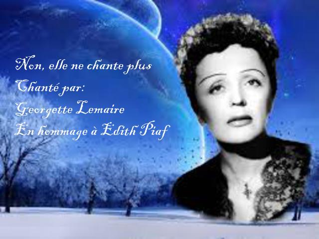 Non, elle ne chante plus....Chanté par: Georgette Lemaire
