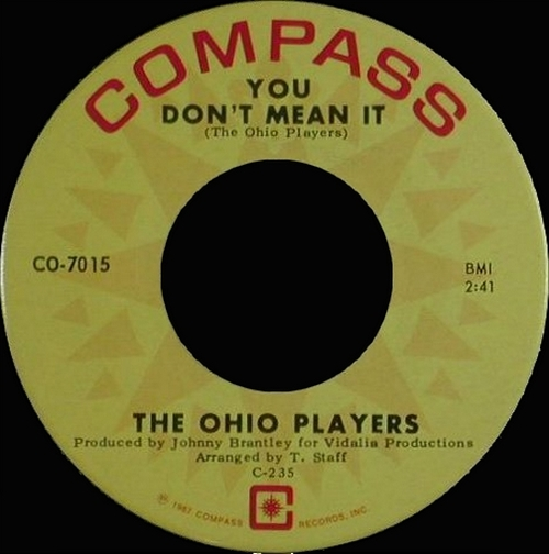 """Ohio Players : CD """" The Early Years Singles 1967-1968 """" Soul Bag Records DP 26 [ FR ]"""