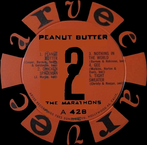 "The Marathons : Album "" Peanut Butter "" Arvee Records A 428 [ US ] en 1961"