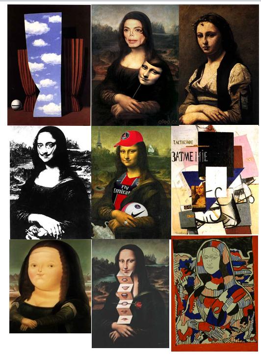 arts visuels : détournement de la Joconde - CM
