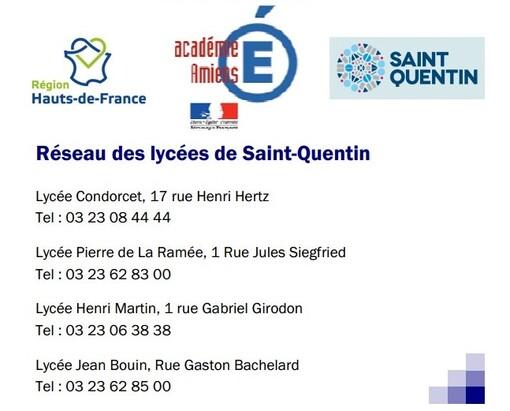 Le réseau des lycées de Saint-Quentin