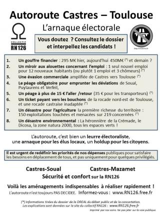 Info en partage : informations sur l'opposition au projet autoroutier Castres-Toulouse !