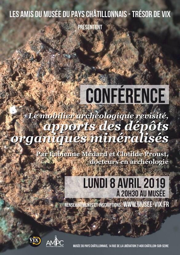 L'Association des Amis du Musée propose une conférence sur l'apport des dépôts organiques minéralisés dans les sépultures anciennes
