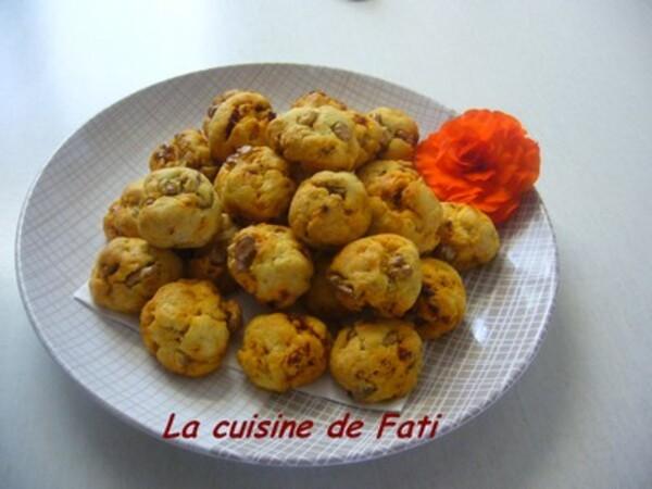Cookies chorizo noix et parmesan