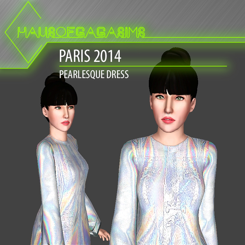 PARIS 2014 PEARLESQUE DRESS