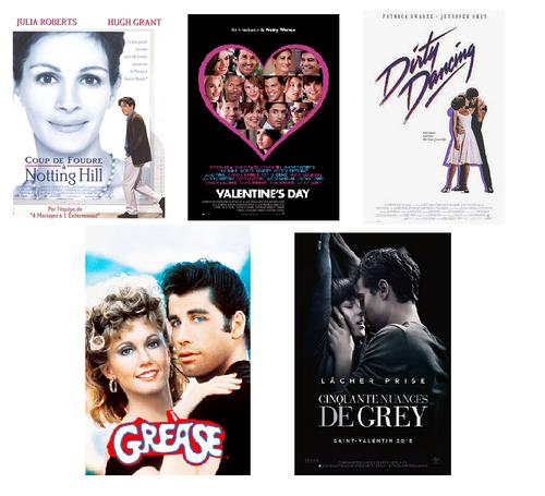 Dix films pour affronter la soirée de la Saint Valentin.