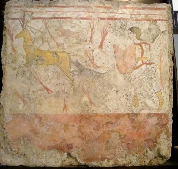Paestum, tombe peinte d'époque lucanienne 6