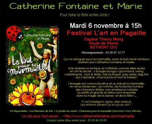 LE BAL POUR LA MARMAILLE et LE CONCERT MINI MÔME au Festival L'art en Pagaille