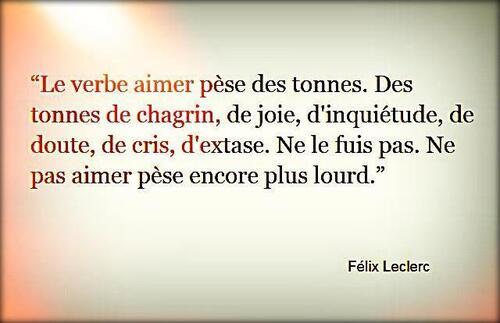 """Le verbe """"aimer""""..."""