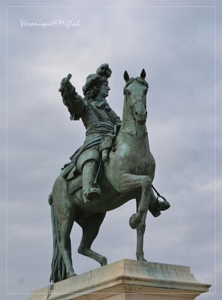 Versailles : Statue équestre de Louis XIV