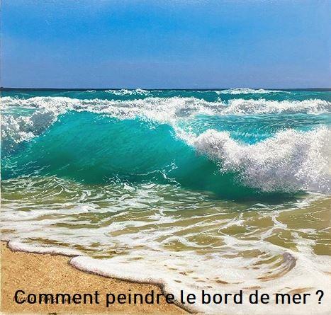Dessin et peinture - vidéo 2896 : C'est l'été, une bonne idée pour peindre le bord de mer pendant les vacances vacances !!! - huile ou acrylique.