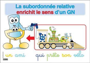 La subordonnée relative enrichi un GN