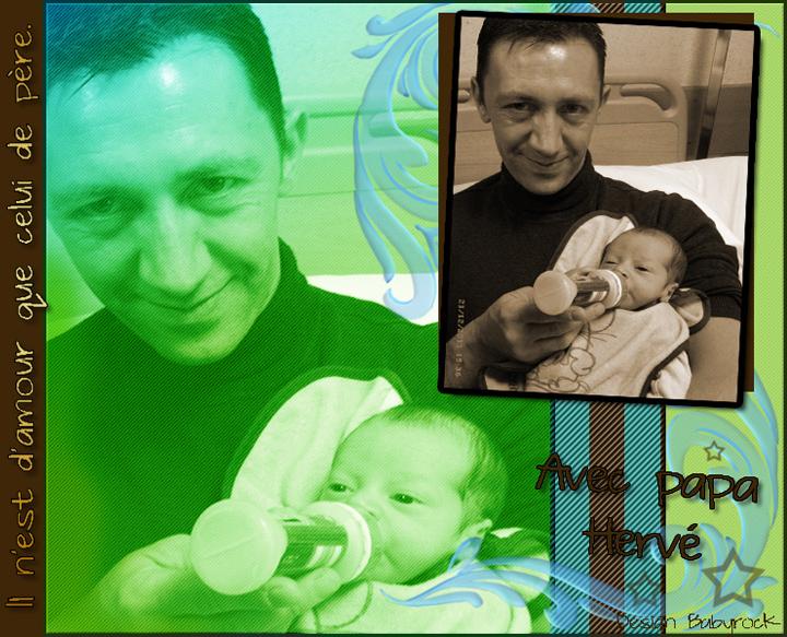 Avec papa Hervé