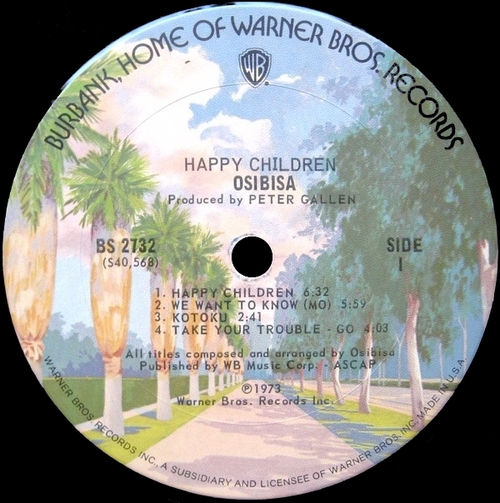 "1973 : Album "" Happy Children "" Warner Bros. Records ‎BS 2732 [ US ]"