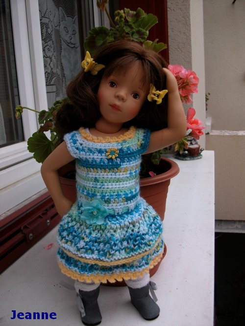 Jeanne et sa première robe !