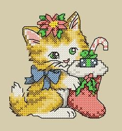 Cartes de Noël chats 1 et 2.