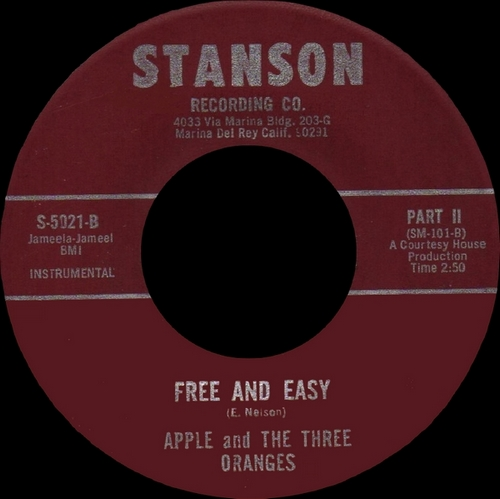 "Apple And The Three Oranges : CD "" Free And Easy "" Now-Again Records NA 5093 [ US ] en 2012"