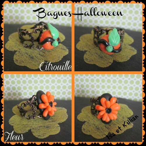 Porcelaine froide: bagues halloween...