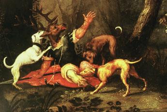 Actéon dévoré par ses chiens