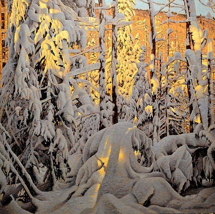 Les Peintures hivernales de Richard Savoie célèbrent la Chaleur de la Période de Noël