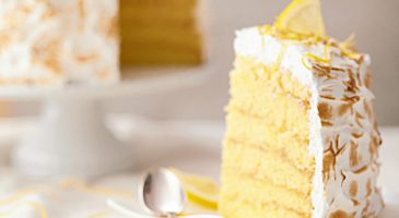 Cake meringue citron - recette facile dessert - Gourmand