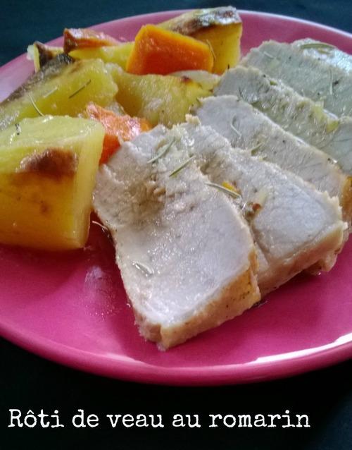 Roti de veau et ses légumes