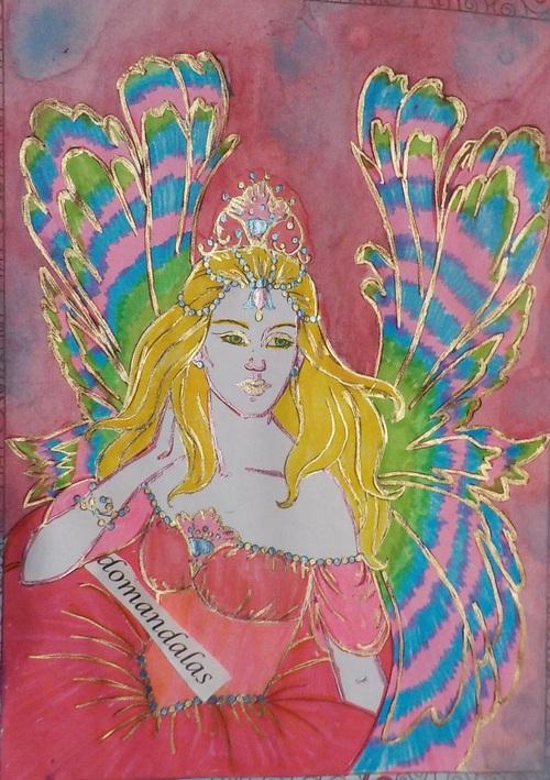 DOMANDALAS  coloriage d'une fée 11 Barbara Lanza