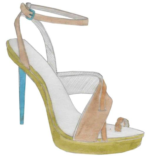 stiletos, sandales à talons