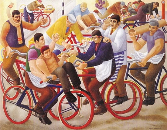 William Roberts, Garçons à bicyclette, 1939