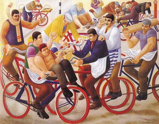 William Roberts, Garçons à bicyclette, 1939